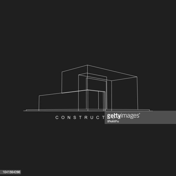 construction icon for design - architecture stock illustrations