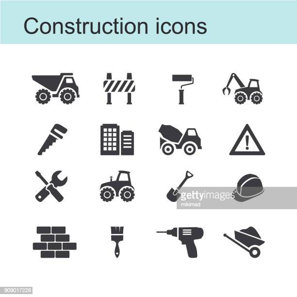 construction icon - brick stock illustrations