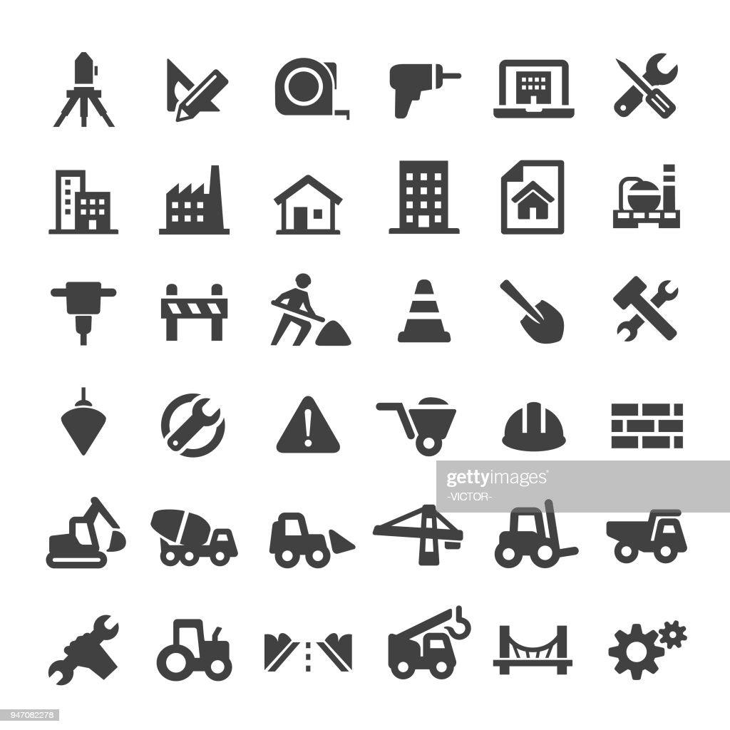 Construction Icons - Big Series : stock illustration