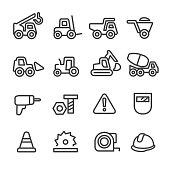 Construction Icons Set - Line Series