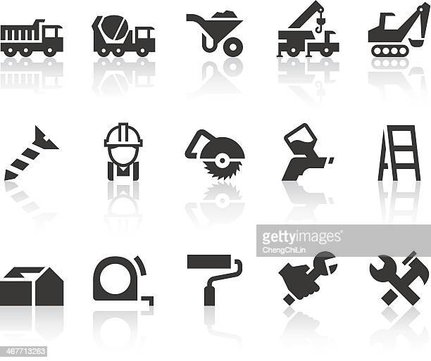 Construction Icons | Simple Black Series