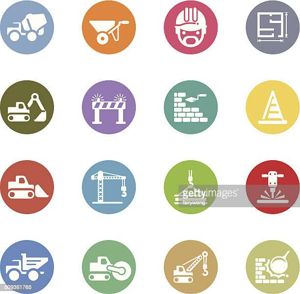 construction icons - trowel stock illustrations, clip art, cartoons, & icons
