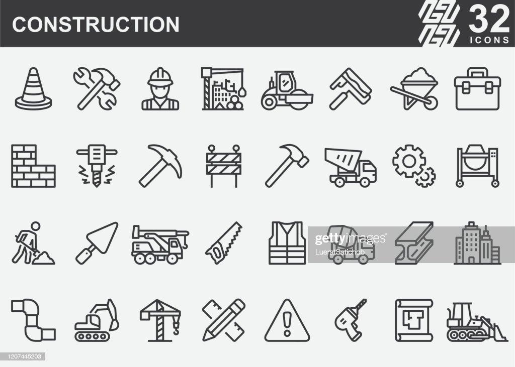 構築線アイコン : ストックイラストレーション