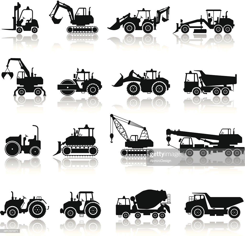Construction Machine Icon Set