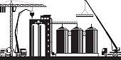 Construction of grain silo