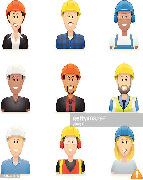 Construction people icons
