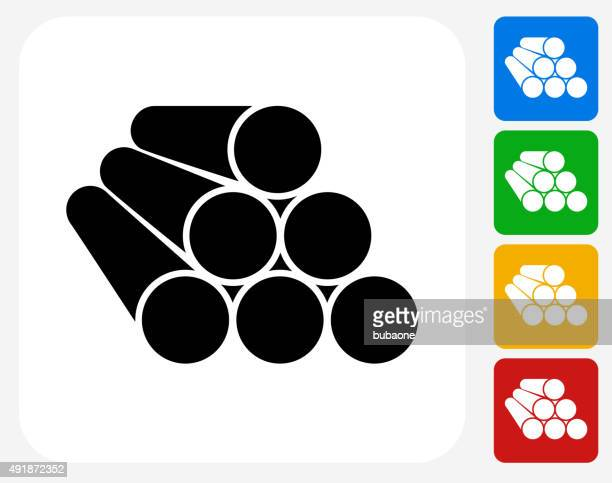 Konstruktion Pipes Symbol flache Grafik Design