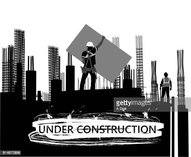 construction rebar and concrete - tool belt stock illustrations, clip art, cartoons, & icons
