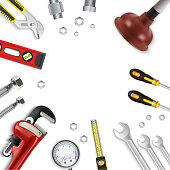 Construction repair tools icon set