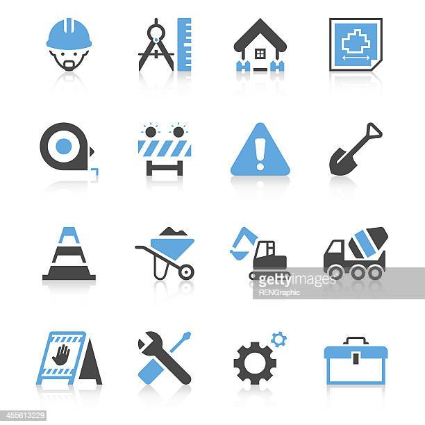 Construction Site Icon Set | Concise Series