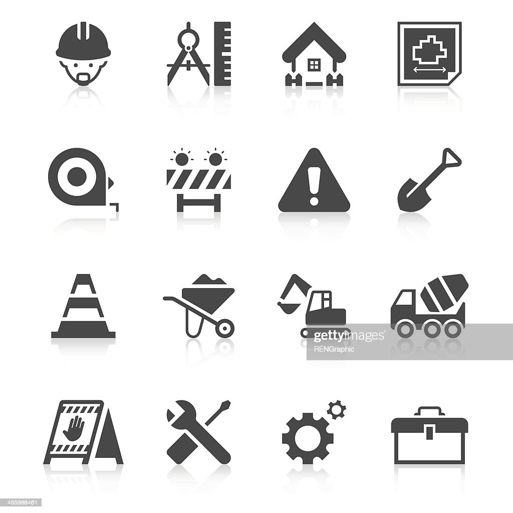 Construction Site Icon Set | Unique Series