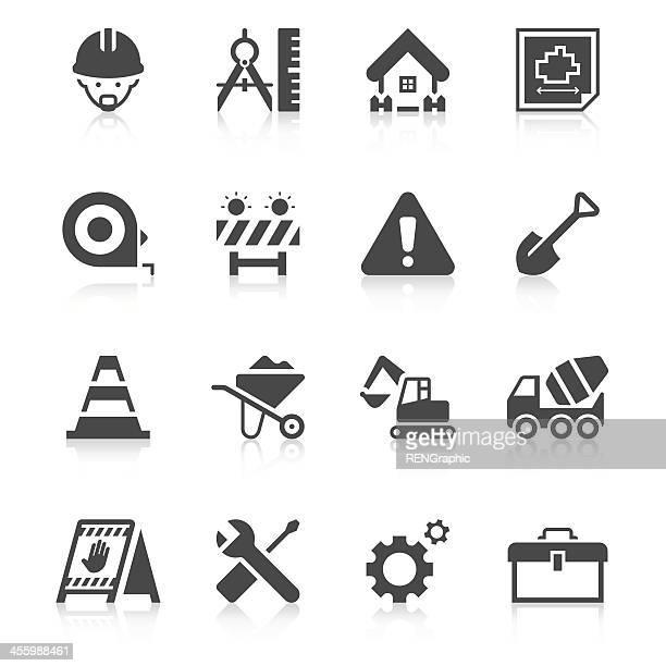 Construction Site Icon Set   Unique Series