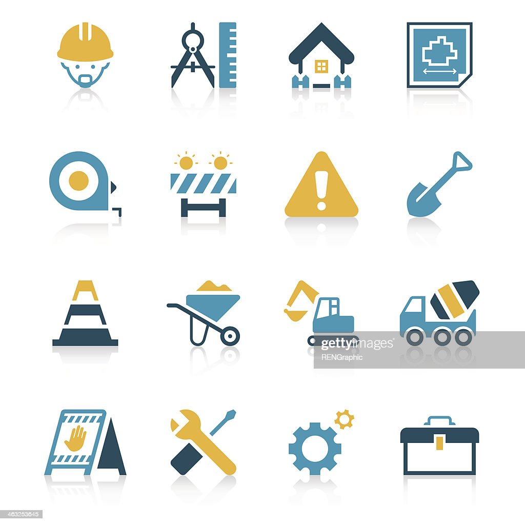 Construction Site Icon Set | Vivid Series
