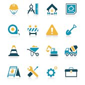 Construction Site Icon Set | Vivid Series