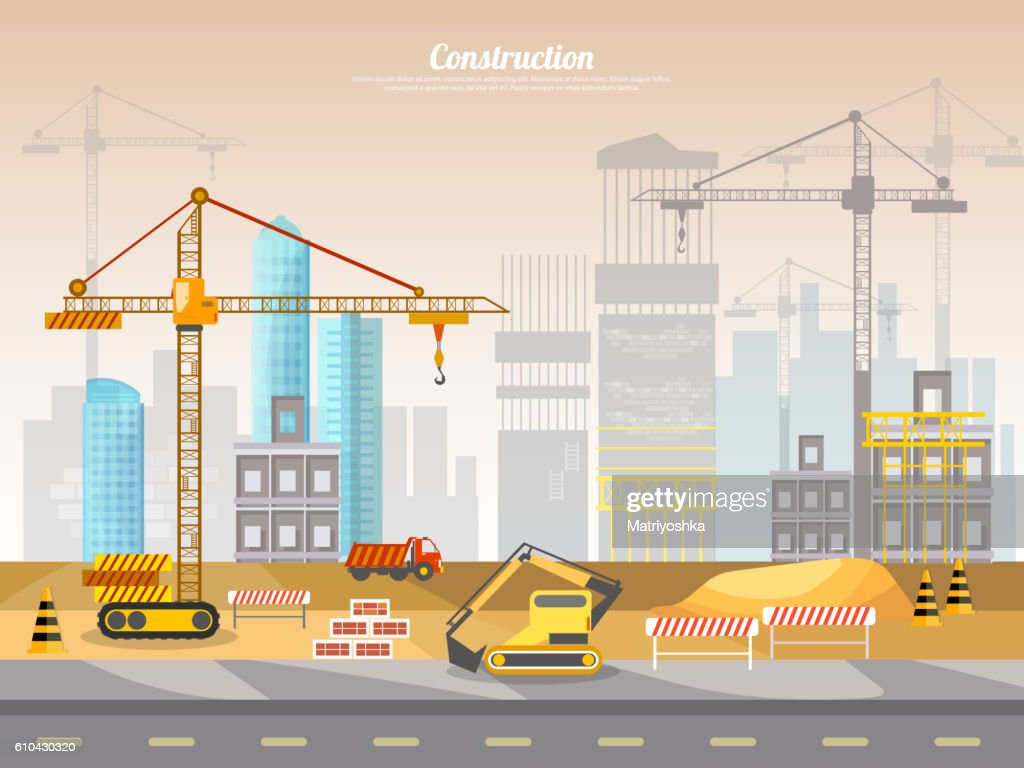 Construction site industrial background