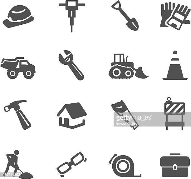 construction symbols - occupational safety and health stock illustrations, clip art, cartoons, & icons