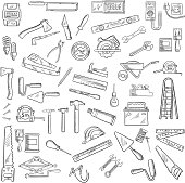 Construction tools and equipment objects
