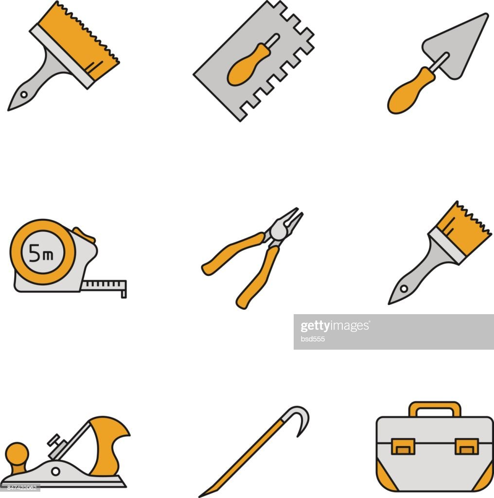 Construction tools icons