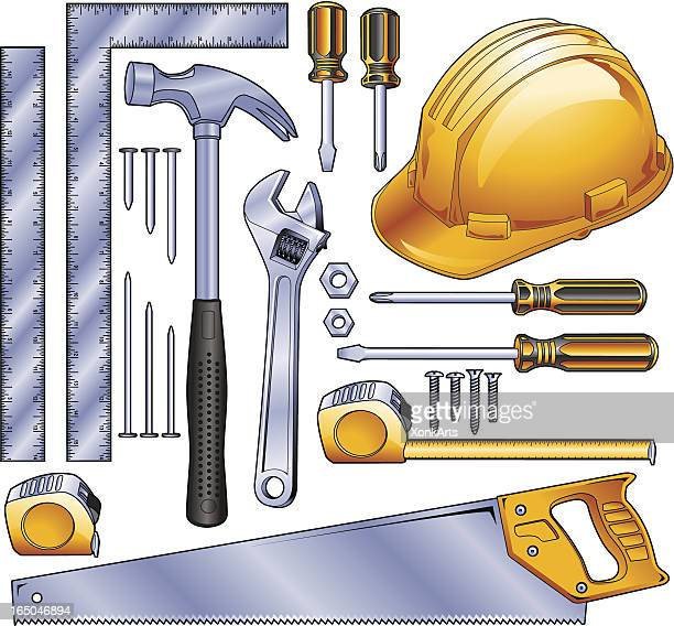 construction tools - serrated stock illustrations, clip art, cartoons, & icons