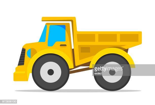 建設トラック アイコン - ダンプカー点のイラスト素材/クリップアート素材/マンガ素材/アイコン素材