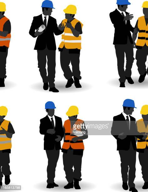 Construction worker and manager