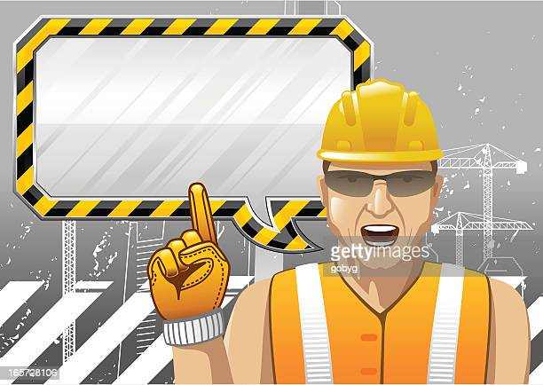 Construction worker giving instruction