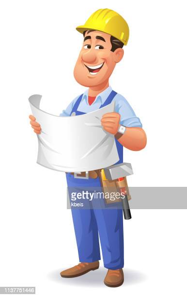 Construction Worker Holding Plan