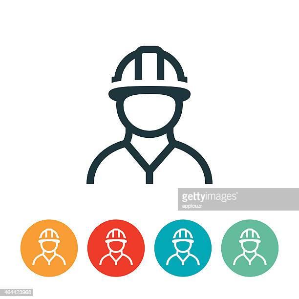 ilustrações, clipart, desenhos animados e ícones de trabalhador de construção ícone - estereótipo de classe trabalhadora