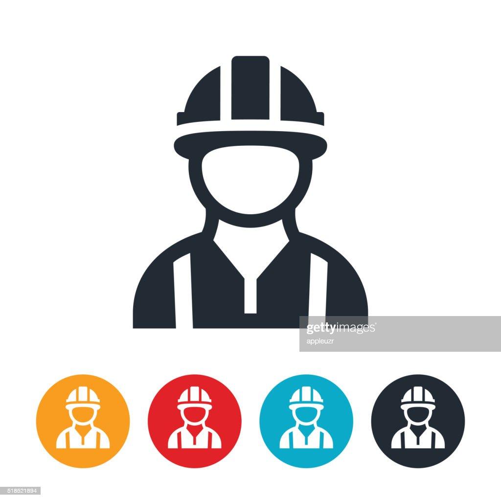 Construction Worker Icon : stock illustration