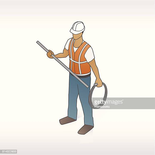 construction worker illustration - mathisworks stock illustrations