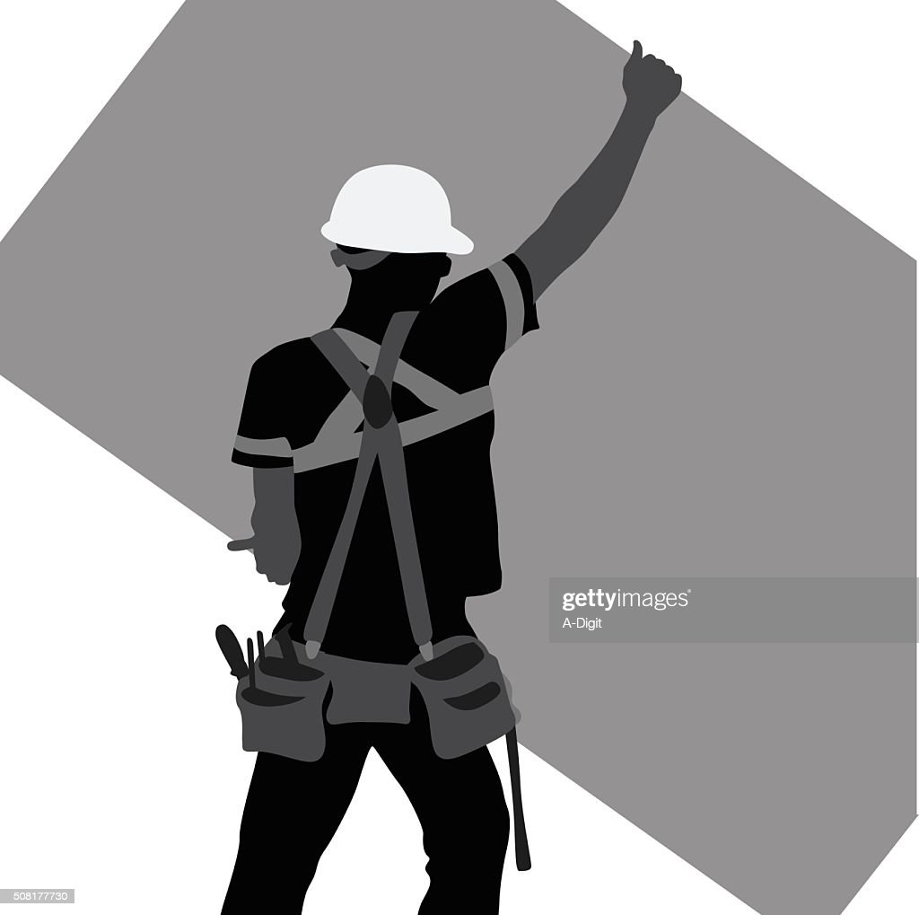Construction Worker Lifting A Sheet Of Plywood Stock