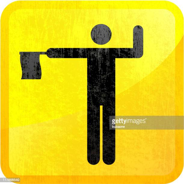 construction worker on royalty free vector background - wood stain stock illustrations, clip art, cartoons, & icons