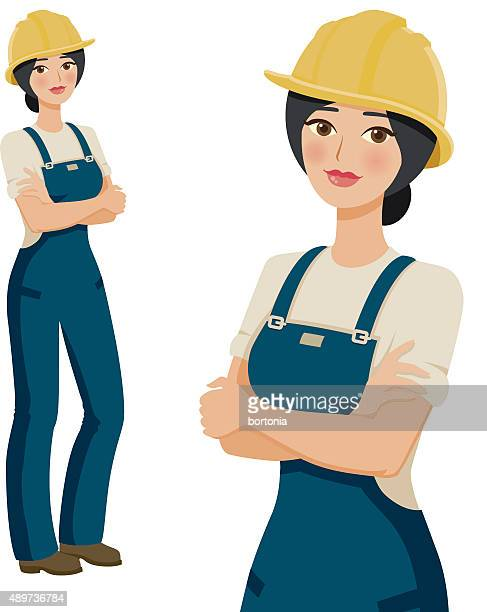 664a36f9839 Construction Worker Professional Woman Icons