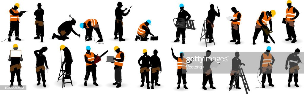 Construction Worker : stock illustration