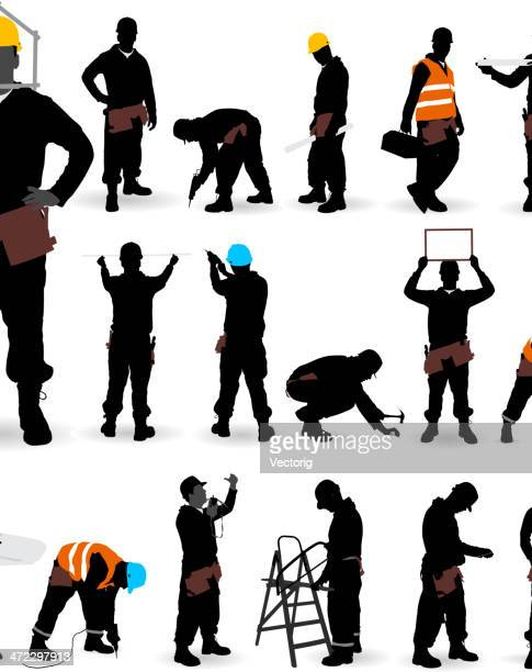 construction worker. - protective workwear stock illustrations, clip art, cartoons, & icons