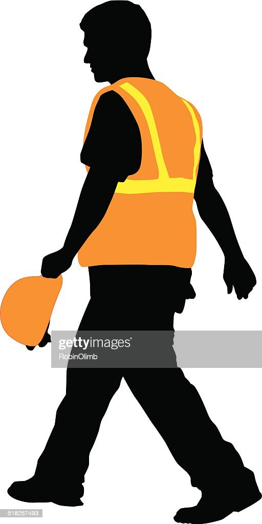 Construction Worker Walking