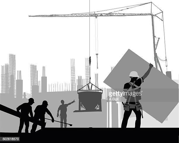 ilustrações, clipart, desenhos animados e ícones de construção com trabalhadores em ação - cinto de ferramentas