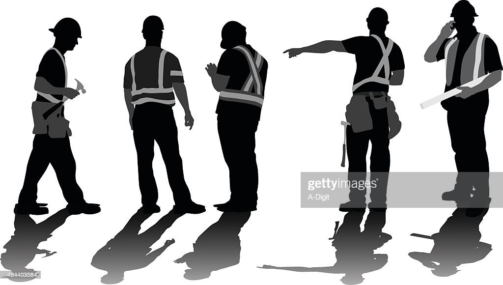 Construction Workers Problem Solving : stock illustration
