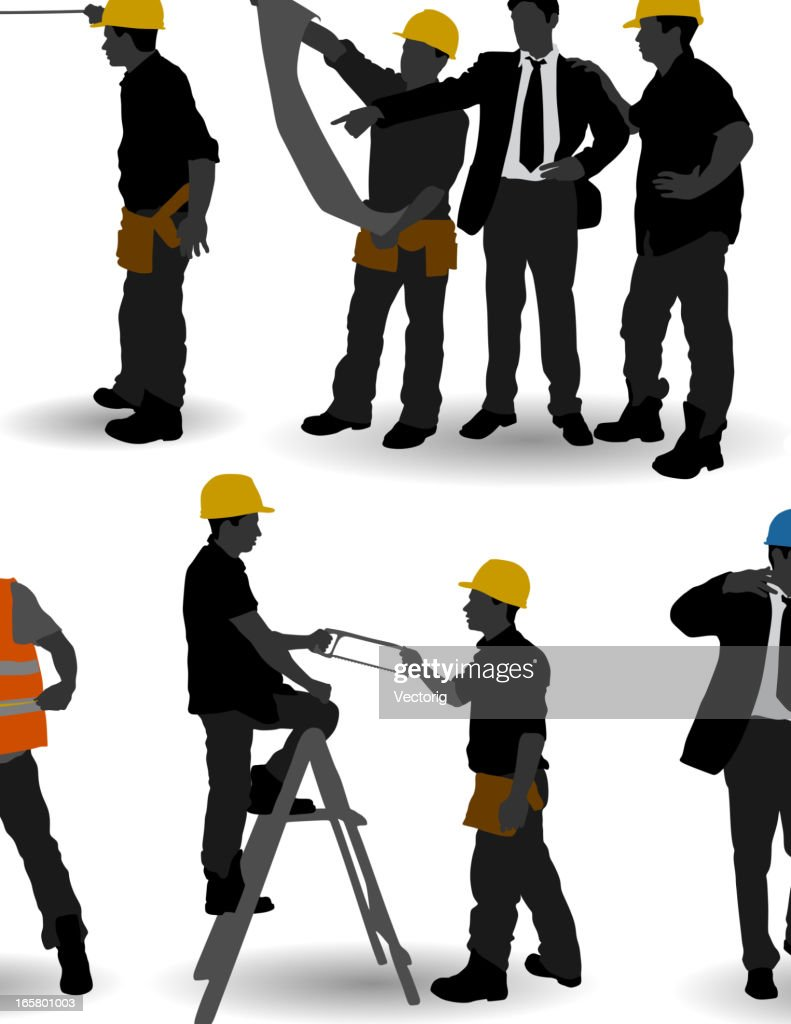 Construction Workers : stock illustration