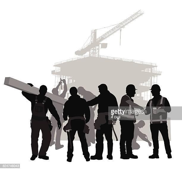 ilustrações, clipart, desenhos animados e ícones de constructioncrew - estereótipo de classe trabalhadora