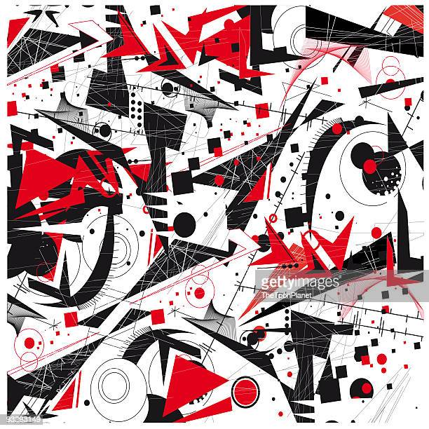 constructivism abstract background - modern art stock illustrations