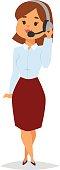 Consultant office professional female adviser girl vector.