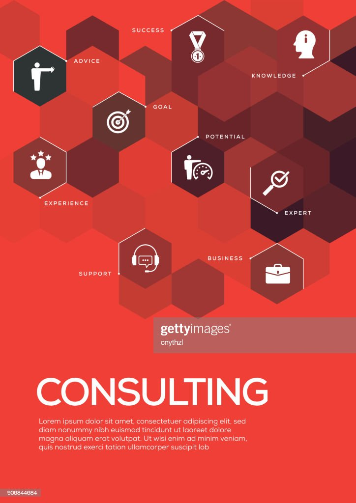 Consulting Brochure Template Layout Cover Design Vector Art Getty