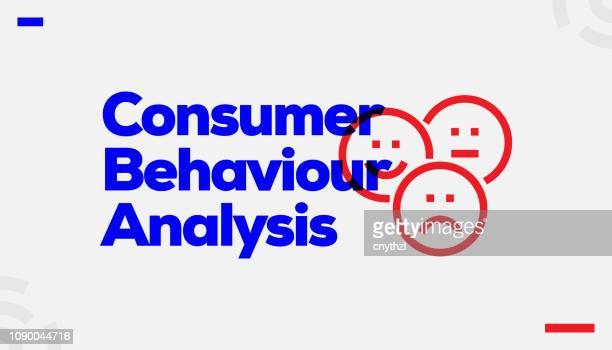 ilustrações, clipart, desenhos animados e ícones de projeto de conceito de análise de comportamento consumidor - satisfação