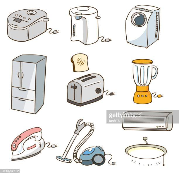 consumer electronics - iron appliance stock illustrations, clip art, cartoons, & icons