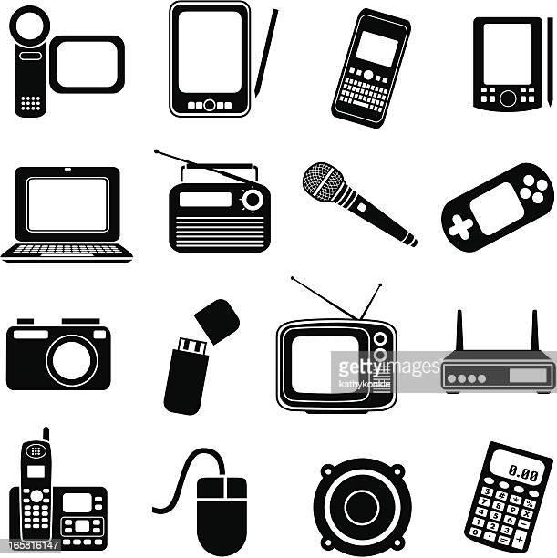 consumer electronics - electronic organizer stock-grafiken, -clipart, -cartoons und -symbole
