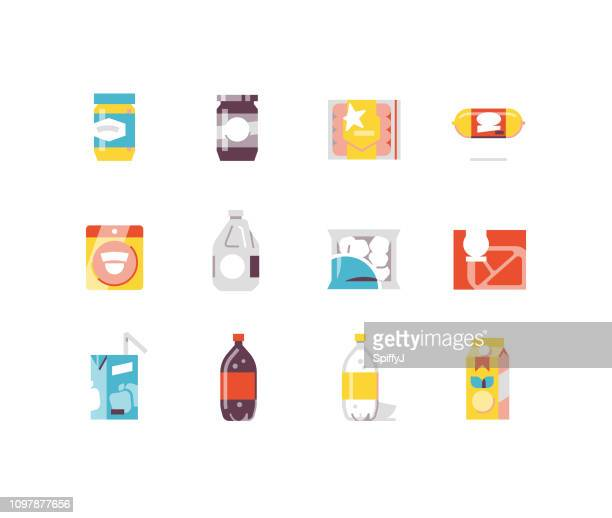 Consumer goods 2 - food flat icons