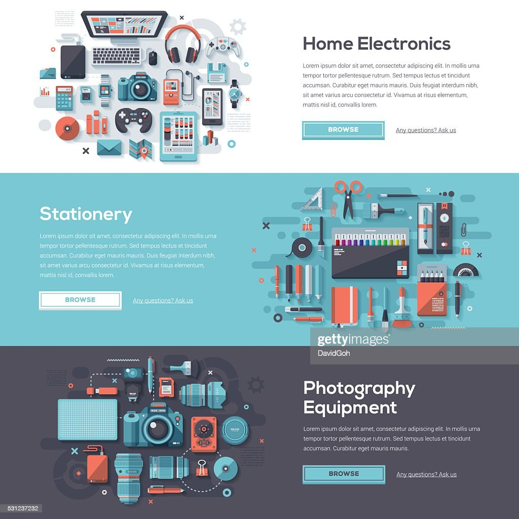 Consumer Products Web Banner Set