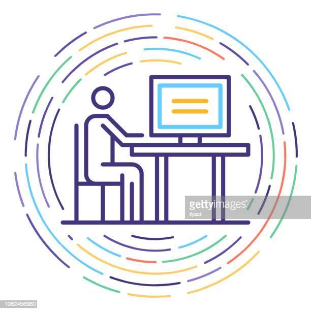 Consumer Protection ligne icône Illustration
