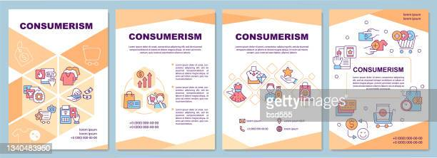 consumerism brochure template excessive purchasing flyer